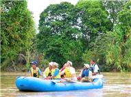 People at Safari Float in Peñas Blancas River by Raft