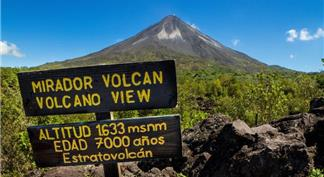 View of Arenal Volcano from Observation Point